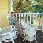 Loved the outside porches and decks