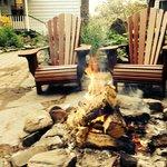 bonfire by the front door