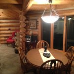 White Bear Cabin-Kitchen looking at dinning room and part of living room