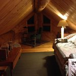 White Bear Cabin-Loft area