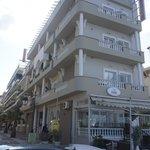 Hotellet sett från stranden