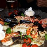 Nice tasteful seafood platter