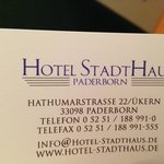 Photo de Hotel Stadthaus