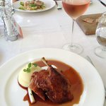 Slow-roasted crispy duck and rosé.