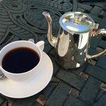 Coffee outside.