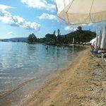 Shingle beach opposite hotel