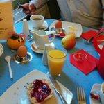 Frühstück! Super.