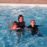 Enjoying the wonderful clean pool at the Quality Inn & Suites Canon City, Co.