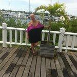 Carla at Jolly Roger - Palm tree, Carla size...lolol