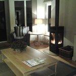 Beautiful romantic log fire