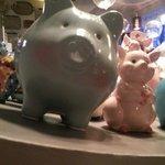 Un cochon bleu !