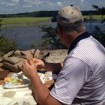 Lunch on the white trail - with a view.