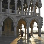 Early morning shadows at the Doge's Palace