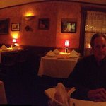 I took a panorama of the dining room at about 7:45 and it was not busy at all yet they rushed us