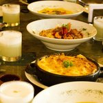 Array of different dishes
