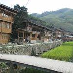 Proceeding from Wisdom Inn up the village Dazhai's main path (no roads or main street)