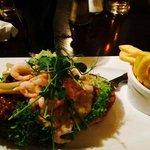 Open Sandwich... pork fillet & shrimp