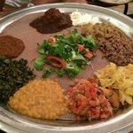Hmmm, very yummy Ethiopian food!