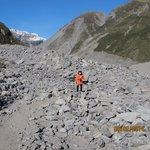 Rocky path to Fox Glacier