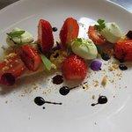 Namelaka verveine, fraises, cassis