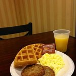 Enjoy a free hot breakfast every morning of your stay!!