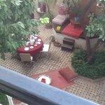 the courtyard at the Riad Ajurzame
