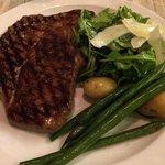 Rib eye steak.