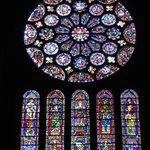 Stained glass panels, Chartres Cathedral (Sept 2014)