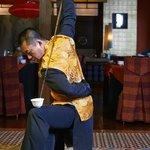 Wen Tao showing off his skills