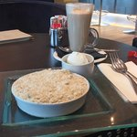 afternoon snack at the Radisson blue waterfront