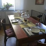 Our table - each room has their own designated dining table!