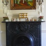 fireplace in the Robert Lyon suite