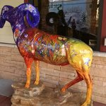 Bighorn outside the lobby