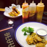 Starters accompanied by our signature sauces, mmm...