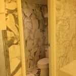 The marble bathroom....
