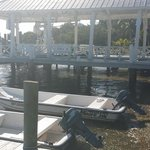 The boathouse with rental skiffs