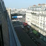 Looking back towards Gare du Nord from the balcony.