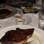 Two delmonicos, ribeye, and lobster mac and cheese