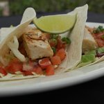 Citrus Marinated Mahi-Mahi Tacos with Pico de Gallo, Shredded Cabbage & Chipotle Sour Cream