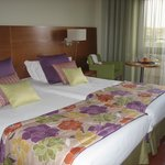 The new throws and pillows on the beds