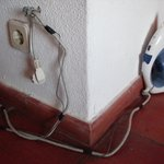 The Iron. Wired to the wall. As were all the electrical appliances