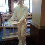 Statue in lobby