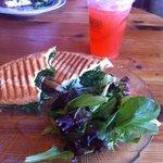 Jade panini and strawberry lemonade