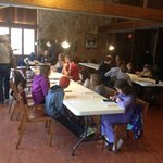 Woodcarving class in the Main Lodge at River Bend