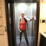 the smallest hotel lift i've ever seen!