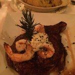 Cowboy Ribeye w/ Gulf Grilled Shrimp