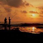 sunset in front of Dajuma