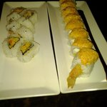 spicy california roll and sunset roll