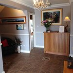 Reception panorama photo of Mount Brandon , painting of Sean Boland.