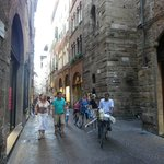 Shopping street in old Lucca.